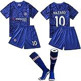 『FFQF ワールドカップチェルシーチームの子供のサッカーユニフォームスーツ、靴下、10番目のスポーツのTシャツを送信する』画像