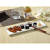長皿(14号長角プレート/おうちカフェ/業務用食器/寿司皿/すし皿/さんま皿/白食器