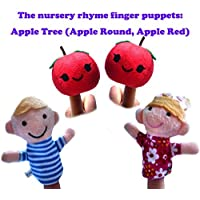 ychoice面白いFinger Puppetsおもちゃ4個AppleレッドFinger Puppets Story Telling Nursery Fairy Tale The Perfect誕生日