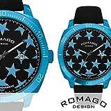 正規品スター(星柄)デザイン・アルミニウムケース腕時計 RM049-0427ST-BU BU 【1点】