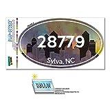 28779 シルバ, NC - シティ - 楕円形郵便番号ステッカー