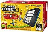 「Nintendo 2DS 欧州版 青・黒 本体 New スーパーマリオブラザーズ スペシャルエディション New Super Mario Bros 2 Special Edition」の画像