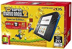 Nintendo 2DS 欧州版 青・黒 本体 New スーパーマリオブラザーズ スペシャルエディション New Super Mario Bros 2 Special Edition