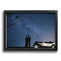 SKYHEART 夜 星 カップル マリー ロマンス 風景 アートポスター アートパイル アート壁掛け 壁アート ポスター インテリア装飾品 絵画 インテリア 風景画 現代壁の絵 引き越し Black