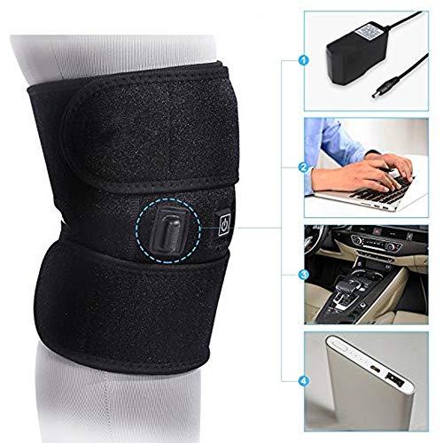加熱されたひざ掛けラップサポート治療薬電気の加温パッド関節痛...