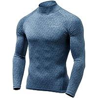 (テスラ)TESLA 冬用起毛 長袖 ハイネック スポーツシャツ [UVカット・吸汗速乾・ 防寒・保温] コンプレッションウェア パワーストレッチ アンダーウェア T32