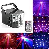 U`King 90V-240V 小型 ステージライト ステージ 照明  DCアダプタ USB LEDライト ミラーボール 音声で光が変化  ディスコライト 舞台照明 パーティーライト バー、ダンス、ステージ、クリスマスパーティー、誕生日、スイミングプール、DJ、結婚式、寝室、リビングルーム、夜間照明に最適!