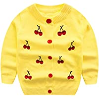 WeddingPach Kids Girls Knitting Cardigan Baby Button up Sweater Spring Autumn 18M-5Years