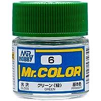 【溶剤系アクリル樹脂塗料】Mr.カラー C6 グリーン (緑)