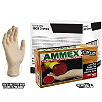 AMMEX - IVSPF44100 - Stretched Vinyl - GlovePlus - Disposable,Powder Free,4 mil,Medium,Clear (Case of 1000) [並行輸入品]