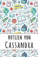 Notizen von Cassandra: Liniertes Notizbuch fuer deinen personalisierten Vornamen