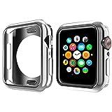 NN.ORANIE コンパチブル Apple Watch Series 5 4 ケース 44mm メッキ TPU ケース 耐衝撃性 超簿 脱着簡単 保護ケース アップルウォッチ カバー Apple Watch 5 4に対応 (シルバー 44mm)