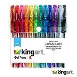 KINGART 400–12ソフトグリップゲルペン、12セットセット、1サイズ、鮮明な色