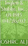 Inglett & Stubbs, Inc.; 01-1915  04/26/02 (English Edition)