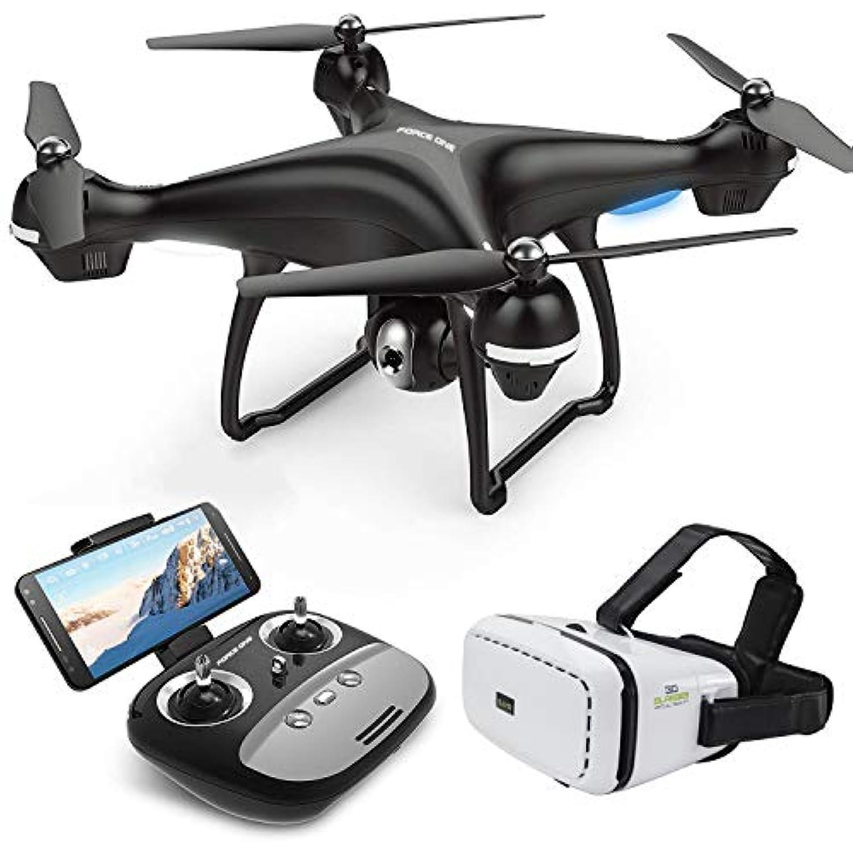 カメラライブビデオ付きクアッドコプタードローン フォースワン S70VR WiFi FPV クアッドコプター 120°広角720P HDカメラ RCドローン高度保持 Follow Me APP Control VRグラス S70VR