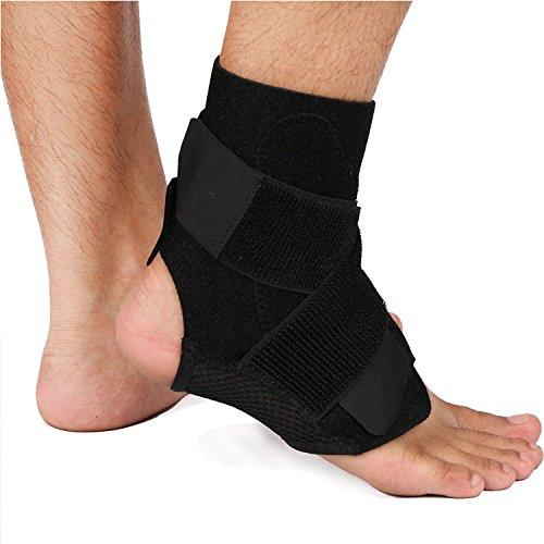 足首 サポーター スポーツ かかと 捻挫防止 - キレス腱断裂 医療用 関節 靭帯 固定 保護 通気性良好 男女兼用(ワンサイズ)