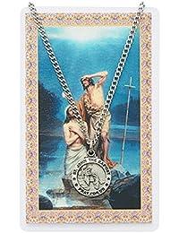 大人用St John the Baptistピューターメダルネックレス、24。