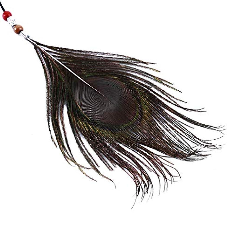 旅行尊厳ベッツィトロットウッドLUXWELL(ラクスウェル)ヘアアクセサリー 孔雀羽毛ヘアバンド ロング レディース ヘアバンド 髪飾り ヘッドバンド ヘアアレンジ 手編み フリーサイズ ボヘミア おしゃれ シンプル