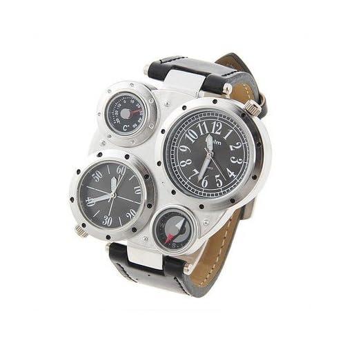 アウトドア 登山 大人気 コンパス 温度計 付 多機能 腕時計
