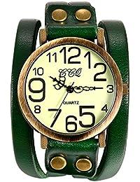 Lancardo 腕時計 レディース アンティーク ブレスレット 時計 メンズ 腕時計 シンプル 防水 レザーベルト アナログ表示 カジュアル メンズ アクセサリー レデイース アクセサリー プレゼント最適