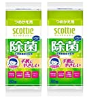 【まとめ買い】 スコッティ ウェットティシュー 除菌 ノンアルコールタイプ 詰替用 80枚 × 2個