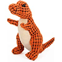 HaveGet 犬おもちゃ 音の出る 噛むおもちゃ 恐竜 ドラゴン ストレス解消 運動不足 ぬいぐるみ ペットおもちゃ 2色 丈夫 小型犬 中型犬 大型犬 オレンジ