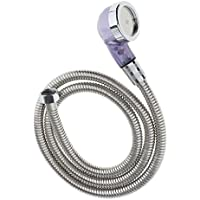 Lovoski 1.2m 理髪サロン シャンプー 洗面器ホース シャワーヘッド 噴霧器 洗面所 延長交換ツール シンク シルバー