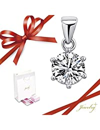 【記念日フェア2017】もらって嬉しいメッセージカード付き Jewelry Plus (ジュエリープラス) ダイヤ型ネックレス ジルコニア