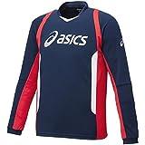 asicsアシックス 長袖プラクティスシャツ XOサイズ XS6083 (50A)ネイビーA