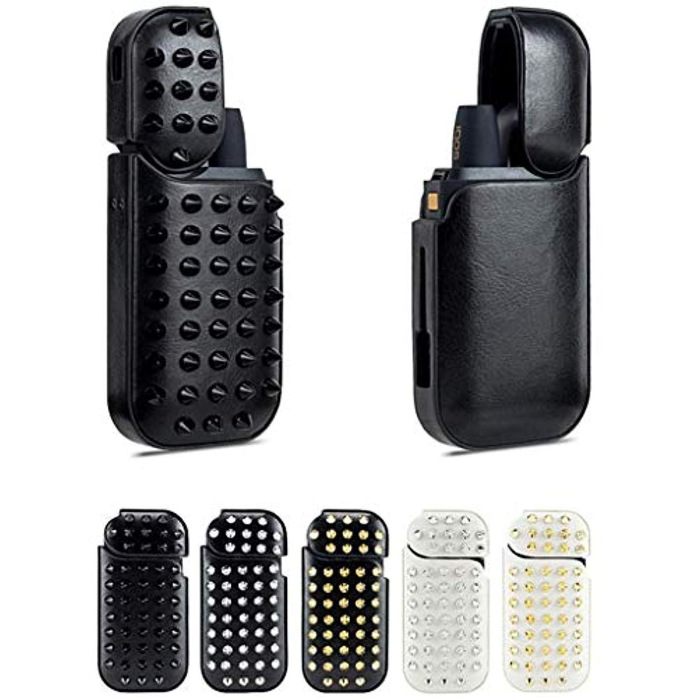 別に最後に形成IQOS電子タバコの保護カバー , IQOS第3世代の革のリベットモデル , フルカバレッジの高級PUレザーケース最新の360°保護カバー , Iqiqos 2.4(旧型アイコス), Iqos 2.4,B2