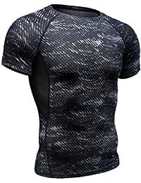 MEREDEN スポーツウェア スポーツインナー メンズ 半袖 ジョギング トレーニング 吸汗速乾