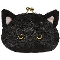 ネコのミュー がま口M ブラック(幅12cmX奥行7cmX高さ8cm) 98854-73
