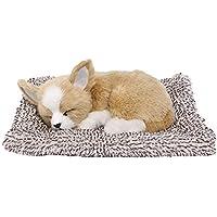 本物そっくりに眠る犬のぬいぐるみ 活性炭 車 車内 空気 浄化 飾り 可愛い (わんこ-7)