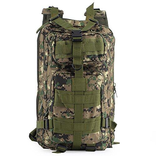 OUTAD アメリカ軍アサルト リュックサック ミリタリー リュック バッグパック 大容量 (デジタルジャングル)