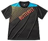 バタフライ(Butterfly) 男女兼用 卓球 グラデイト・Tシャツ 45090 ブラック(278) L