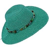 Sun N Sand Women's Paper Crochet Sun Hat with Decorative Beads