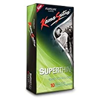Kamasutra 10pc Pack Condoms - Superthin Condoms - UltraThin - Naked & Discreet Pack by Kama Sutra