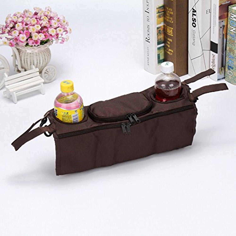 コーヒーkids-baby-stroller-safe-console-tray-pram-hanging-black-bag-bottle-cup-holder