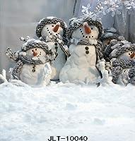 クリスマス雪だるま装飾写真の背景幕雪写真スタジオ背景 10x15FT TR-10040-300X450CM
