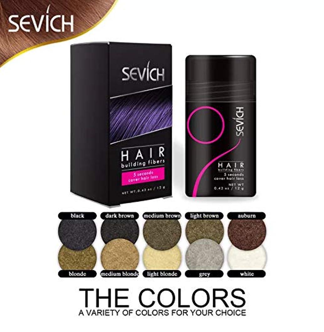 ヘビーロバ例示するヘアビルディング 増毛パウダー ブラック Black 12gボトル/薄毛対策 白髪 ハゲ隠し Hair Fibers (Dark Brown)
