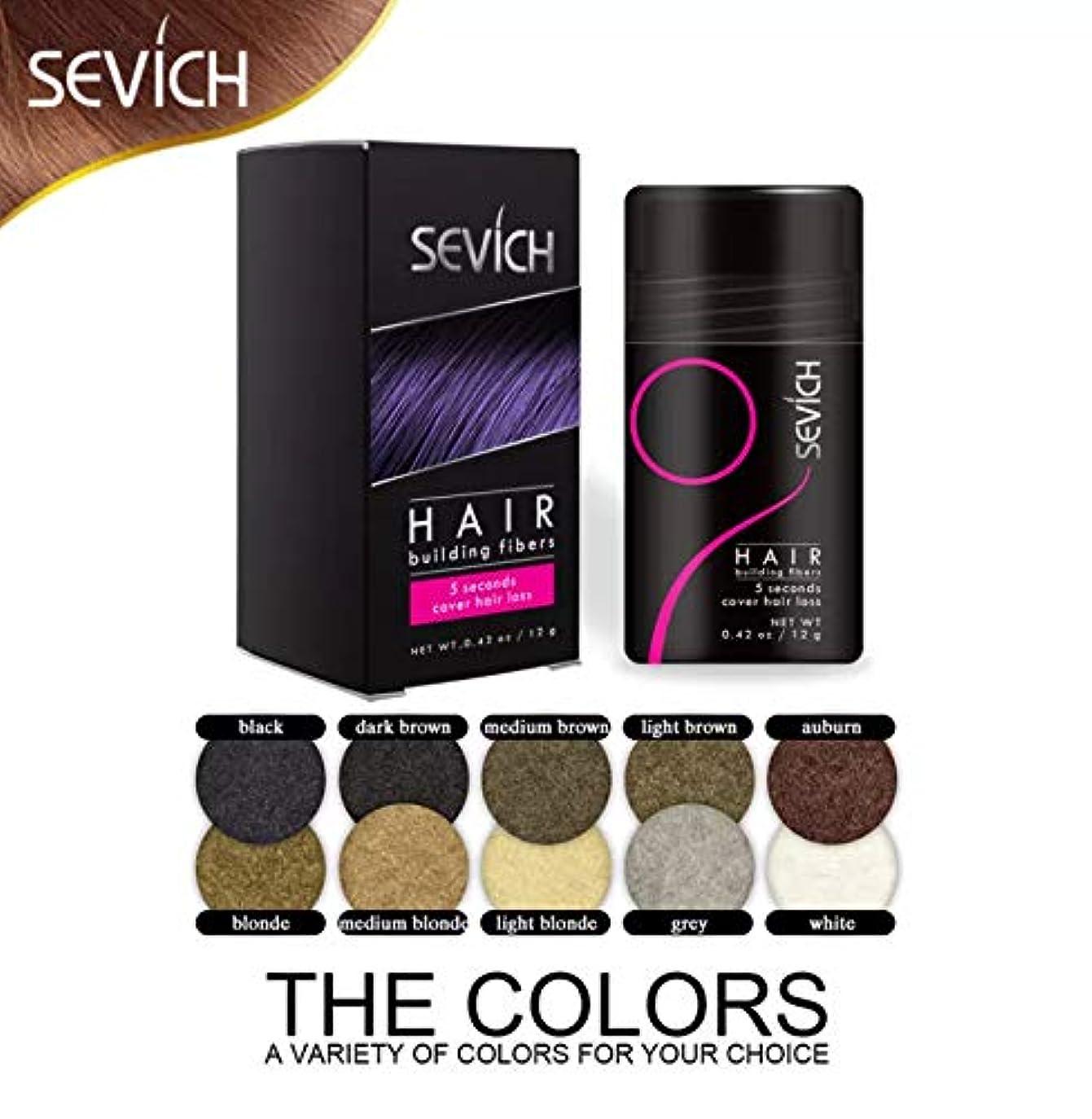 ヘアビルディング 増毛パウダー ブラック Black 12gボトル/薄毛対策 白髪 ハゲ隠し Hair Fibers (Dark Brown)