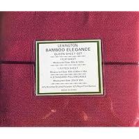 Lexington竹優雅2200シリーズ18インチ深いポケット6 pcベッドシートセット、すべてのサイズ – Eco Friendly – 低刺激性、Wrinkle Free フル レッド