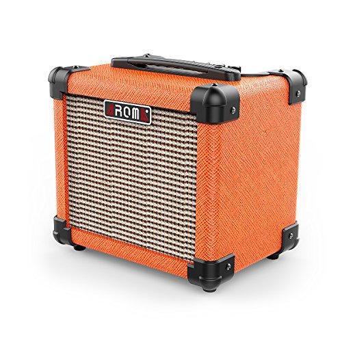 Aroma ミニアンプスピーカー ギターアンプ 10W出力通用 ミニヘッドフォンアンプ 二重電源 オーディオ 携帯便利 エレキバイオリン、エレキギターなどに最適 - by LC Prime®