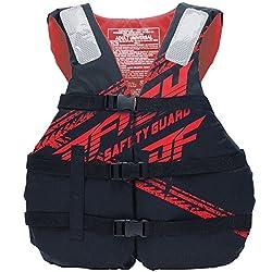 【2018新作】ジェイフィッシュ SHELL ライフジャケット 簡易 JCI認定 ライフジャケット ジェットスキー 水上バイク 救命胴衣 JLV385 レッド ユニバーサル