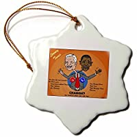 Rich Diesslin The Problems with Change Ala Carter and Obama Snowflake Porcelain Ornament 3-Inch [並行輸入品]