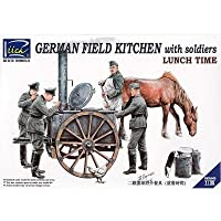 Riich Models RV35045 - Model Kit German Field Kitchen with Soliders (Cook & Three German Soldiers Food Containers