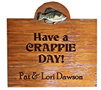 Crappie Fish Sign Personalized with your name