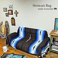 RUG&PIECE メキシコ製 ネイティブ柄 メキシカンラグマット 200cm×130cm (rug-6573)