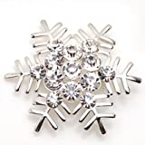 シンプルデザイン 美しい 輝き 雪の結晶 ブローチ