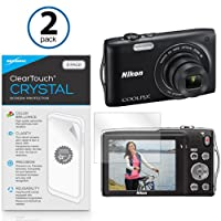Nikon Coolpix s3300スクリーンプロテクター、BoxWave ® [ ClearTouchクリスタル( 2- Pack ) ] HDフィルムスキン–傷からシールドfor Nikon Coolpix s3300, s3700, s3600